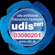 Unser Unser Datenschützer ist udis-zertifiziert.